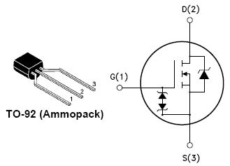 STQ2NK60ZR-AP, N-CHANNEL 600V - 7.2? - 1.4A TO-92 Zener-Protected SuperMESH™ MOSFET